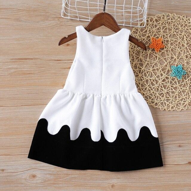 Summer Girls Dresses Black and White