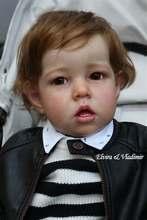28Inch Big Size Enorme Baby Peuter Reborn Doll Kit Liam Soft Touch Frisse Kleur