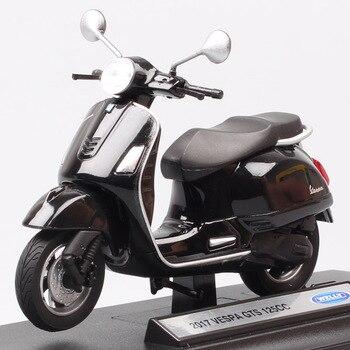 Welly 2017 Vespa GTS 125cc moto rcycle diecast moto, vehículos de bicicleta, modelo de juguete, réplicas de recuerdo, regalo para niños a escala 1:18