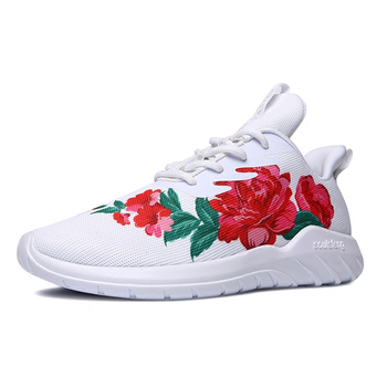 2020 Men Running Shoes Comfortable Sneakers Outsole Non-slip jogging Outdoor Athletic Shoes Embroidery Flower Sports Shoes