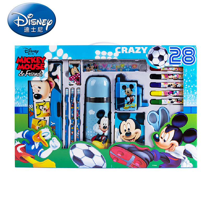 Super Luxury Insulated Cup Scriptum Students Prizes Children Holiday Gift Mickey Stationery Box Set