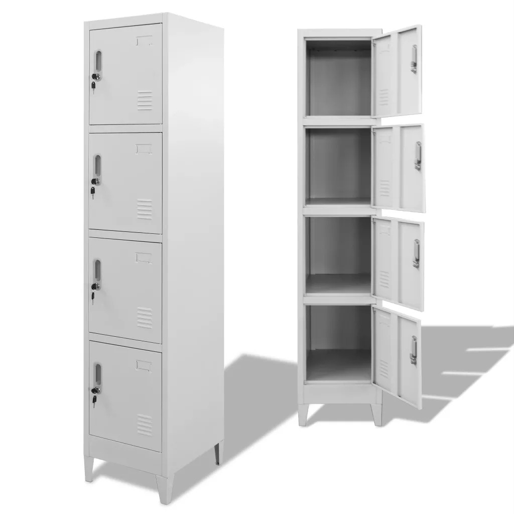 VidaXL Locker Cabinet With 4 Compartments 38x45x180 Cm 244475