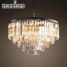 Современные люстры со светодиодными лампочками и металлическим материалом для украшения гостиной осветительный прибор высокого качества с кристаллами