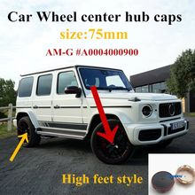 4PCS 75mm Car Wheel Hub Caps for Mercedes Benz AMG A45 CLA45 C63 GLA45 G63 Emblem Accessories Auto Rim Center Cover A0004000900