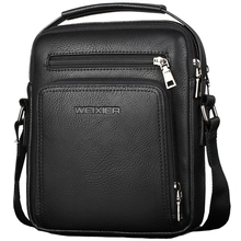 WEIXIER Casual Men Crossbody Bags Pu Leather Messenger Bag Designer Handbag Top Male Shoulder