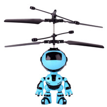 toy robot for children Mini RC Infraed Induction The Robot Flashing Light Toys For Kid Gifts  toy robot for children #4D11