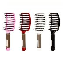 2Pcs Brosse Demelante Hair Brush Scalp Massage Comb Bristle Nylon Women Detangle Hair Brush for Salon Hairdressing Styling Tools