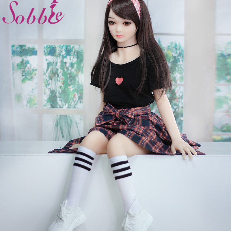 Sobbie sex doll 100cm Sex Dolls with 100% TPE Skeleton Japanese girl small boobs Adult Anime Oral Love Doll Realistic Vagina Toy