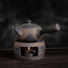 Teapot Warmer Candle-Stand-Holder Tea-Heater Ceramic 1pc Retro