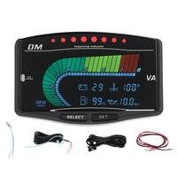 12 V/24 V 5 in 1 Auto Universal Lkw LCD Digital Instrument Öl Manometer Volt Voltmeter Wasser temperatur Kraftstoff Gauge Tachome-in Öl-Manometer aus Kraftfahrzeuge und Motorräder bei