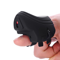 GM306 Mini Wireless Finger Ring Mouse Rechargeable USB Flexible Mice 2.4Ghz Optical Pocket Mouse for PC Laptop Computer