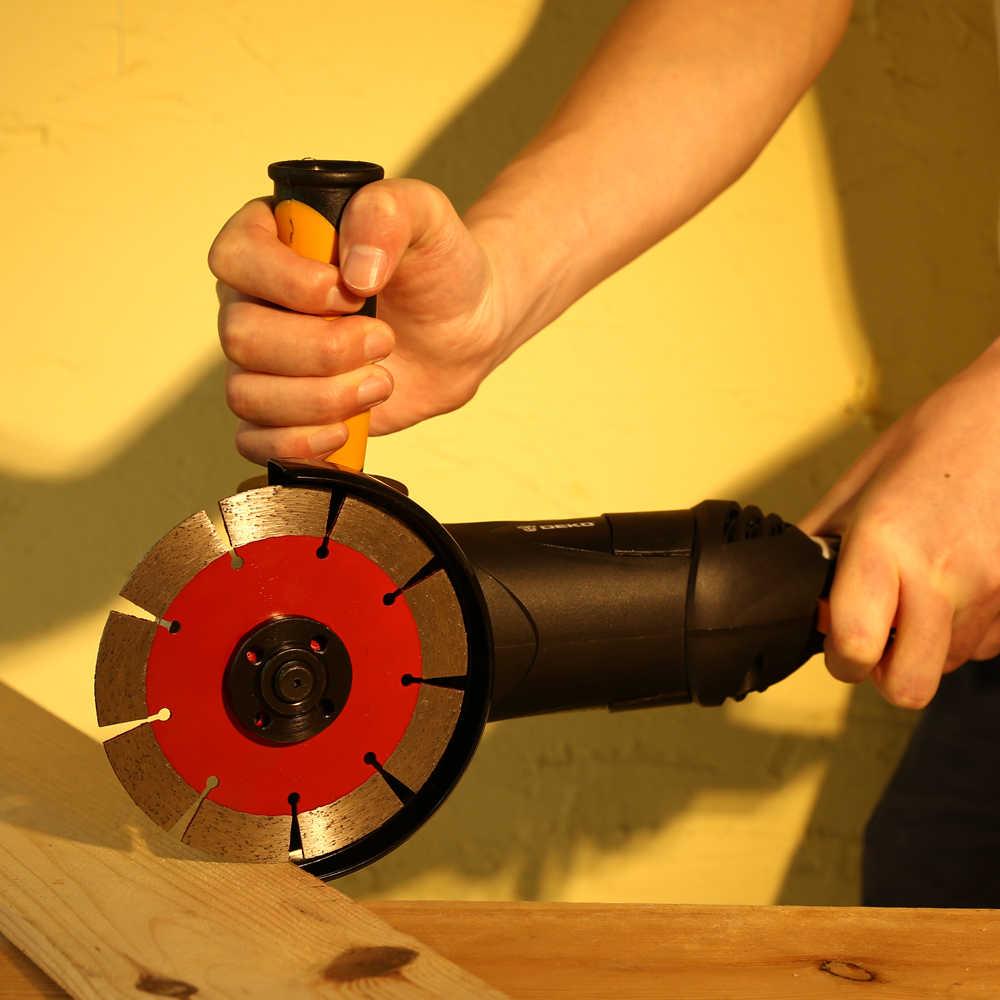 DEKO 220V 125mm meuleuse d'angle électrique Machine angulaire outil électrique meulage coupe meulage métal bois
