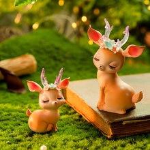 Kawaii Accessories Car Decoration Accessories Cute Cartoon Deer Desktop Decoration Animal Ornaments Children's Room Decoration