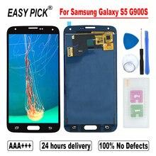 สำหรับSamsung Galaxy S5 G900S G900F G900M G900K G900LG900A G900T G900VจอแสดงผลLCD Touch Screen Digitizer ASSEMBLY