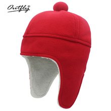 Hat Bomber-Hat Ear-Protection Beanie Imitation Winter Cute Warm And Ball Lamb-Wool Head-Size