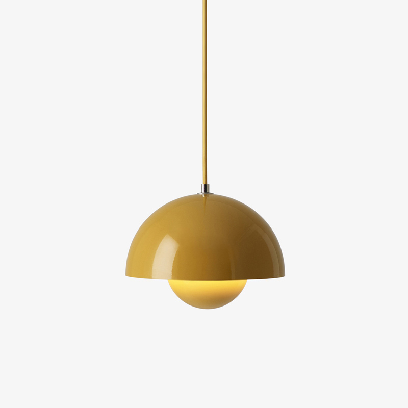 Nordic Flowerpot LED Pendant Lamp Metal Modern Living Room Bedroom Kitchen Fixtures Pendant Lights Interior Industrial Decor