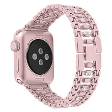 apple watch band 44mm 42mm 40mm 38mm woman diamond band for apple series 5 4 3 2 iphone watch strap iwatch bracelet(China)