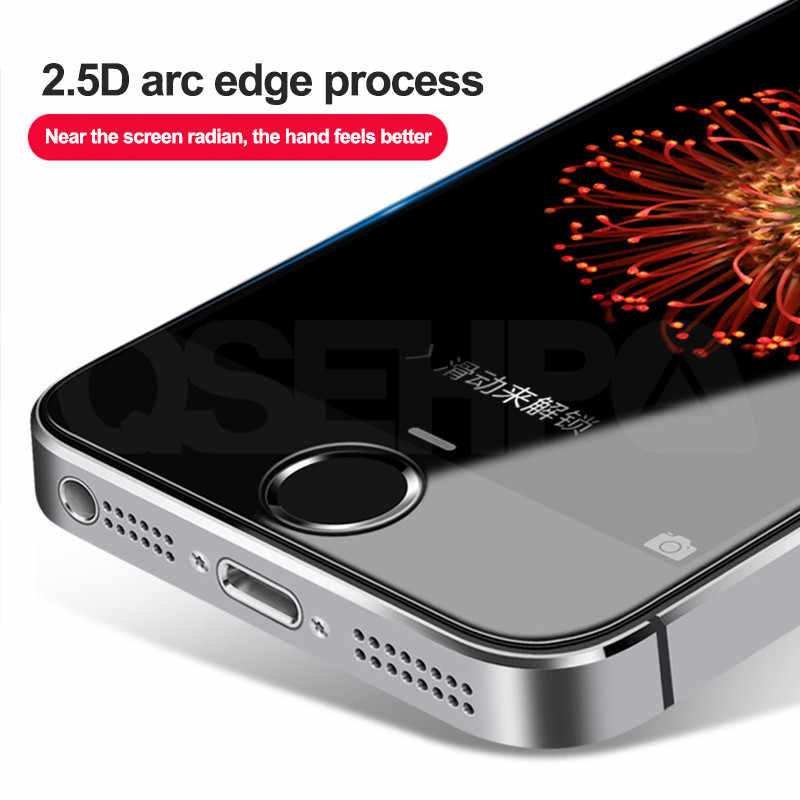 9H الزجاج المقسى على ل فون 11 برو X XR XS ماكس شاشة حامي ل فون 5 5S 5C SE 4 4S السلامة واقية الزجاج فيلم