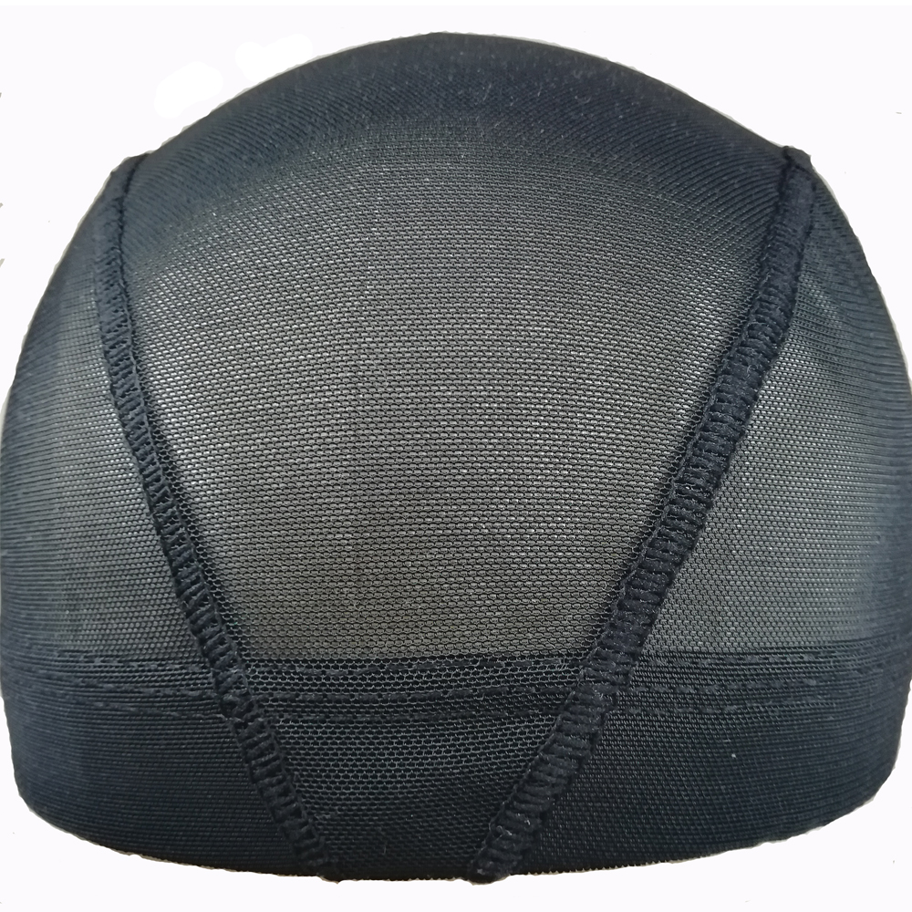 Wholesale Black Mesh Dome Cap For Making Wigs Breathable Glueless Stretchable Spandex Hair Net Weave Cap In Hairnets