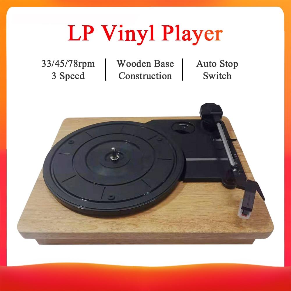 Vintage Vinyl Record Player Turntable 3-Speed 33//45//78 Rpm Speakers Portable