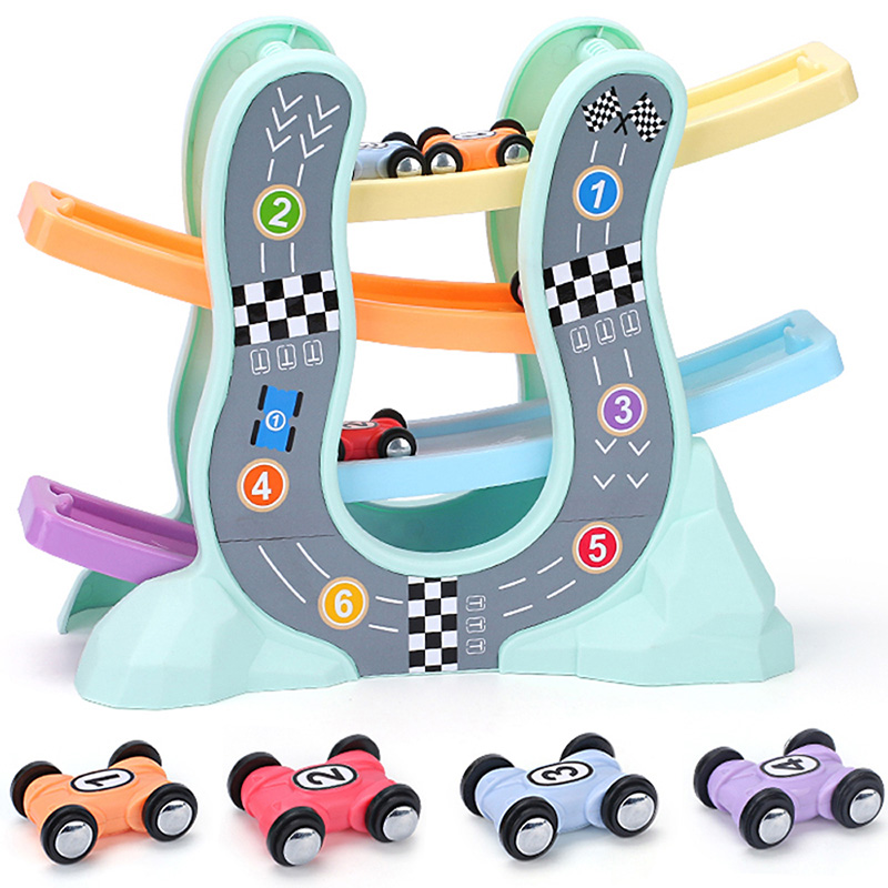 Racing Cars Model Toys For Children Ramp Racer Railway Track With Gliders Little Car Toy For Boys Birthday Gifts Kids,1