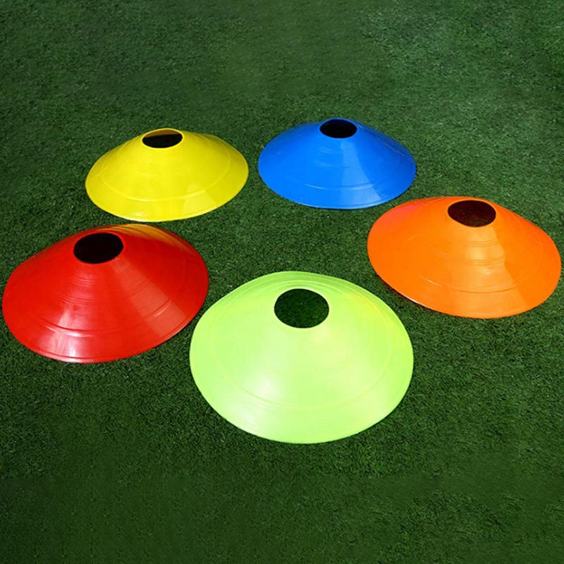 Disc Cones (Set Of 50) Agility Training Soccer Cones With Carry Bag And Holder For Football Basketball Sports Field Cone Markers