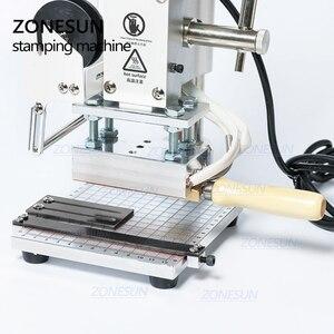 Image 4 - ZONESUN ZS100 instrukcja karta pcv skórzany papier LOGO tłoczenie folią na gorąco brązujący maszyna do wytłaczania dziurkarka ciepła 5x10cm