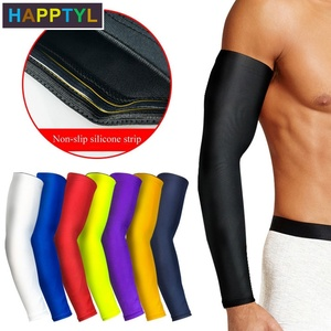 HAPPTYL 1Pcs Cooling Arm Sleeves Cover UV Sun Protection Armband Basketball Golf Athletic Sport Running Compression Sleeve