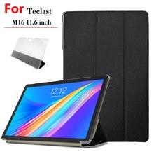 Чехол из искусственной кожи для Teclast M16 Tablet PC, защитный чехол для Teclast M16 11,6 дюймов + стилус для пленки