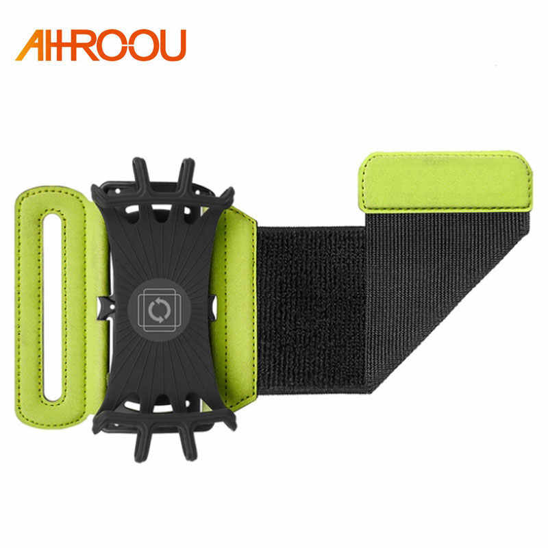 4-6inch Running Bag Men Women Armbands Touch Screen Cell Phone Case Rotatable Running Belt Cycling Gym Arm Band Bag for iPhone 8