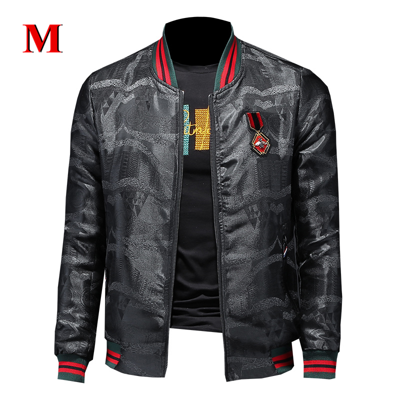 MENNE 2020 New High Quality Men Jacket Fashion Stripe Jacket Men Coat