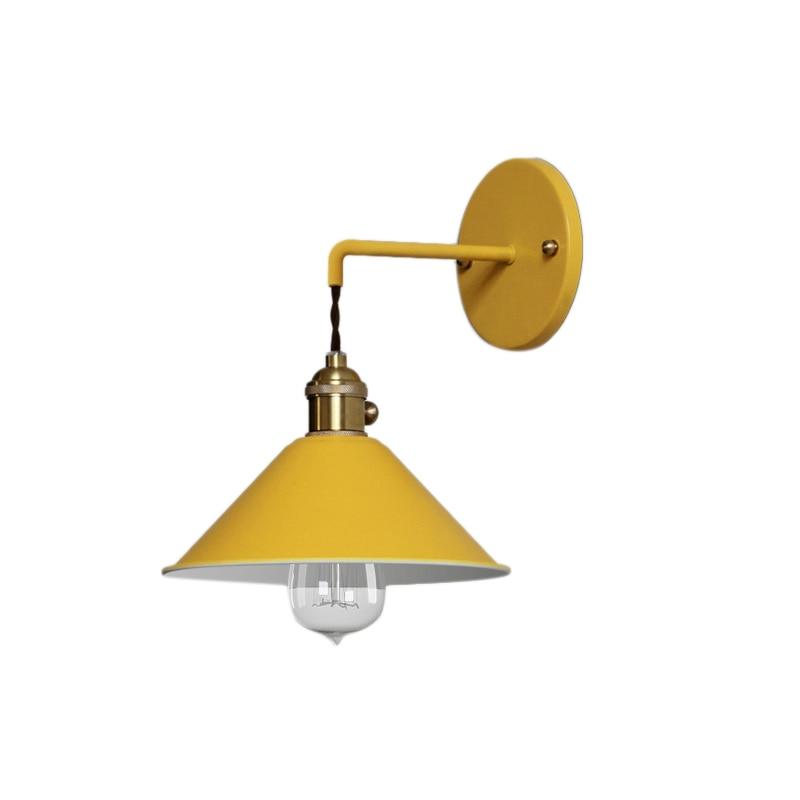 Işıklar ve Aydınlatma'ten Dış Mekan Duvar Lambaları'de Modern başucu duvar lambası koridor duvar lambası yatak odası okuma duvar lambası E27 kapalı lamba sarı title=