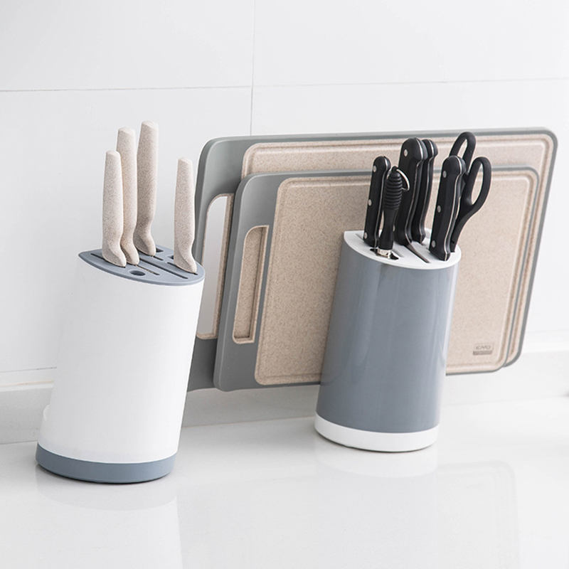 Kitchen Organizer Plastic Stand Knives Holder Dish Drying Rack Shelf Pantry Storage For Scissors Cutting Board Cutting Tools
