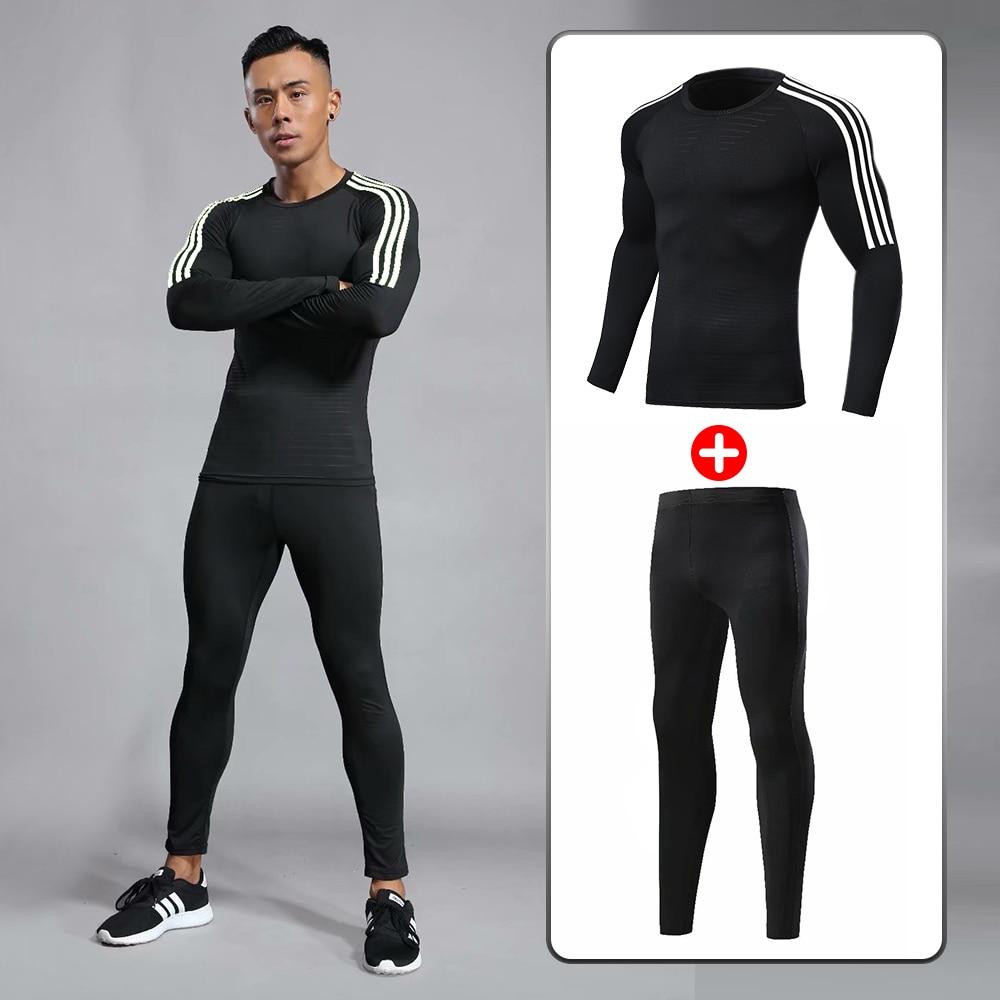 Men's Suit Sport Compression Suit For Men T Shirt Mma Muay Thai Kickboxing Mma Rashguard Shirts + Pants Underwear Workout Sports