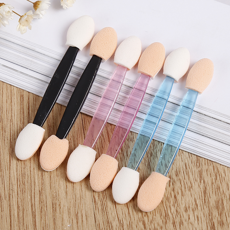 10PCS Cosmetic Makeup Double End Eye Shadow Eyeliner Brush Sponge Applicator Tool Cosmetic Eyeshadow Brush For Women Lady TSLM1