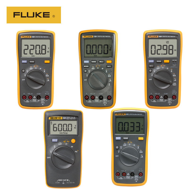 100% Original Fluke 15B+ / 17B+ / 18B+ / 12E+ Auto Digital Range Multimeter DMM AC / DC / Diode / R / C Voltage Current Tester