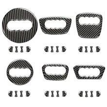 Real Carbon Fiber Car Steering Wheel Center LOGO Trim Cover Auto Inner Accessories For Audi A1 A3 A4 A5 A6 A7 A8 Q3 Q5 Q7