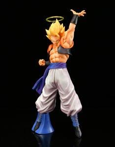 Image 4 - 28cm Dragon Ball Super Gogeta Action Figure Super Saiyan Goku Vegeta Figurine Dragon Ball Z Gogeta PVC Model Toy