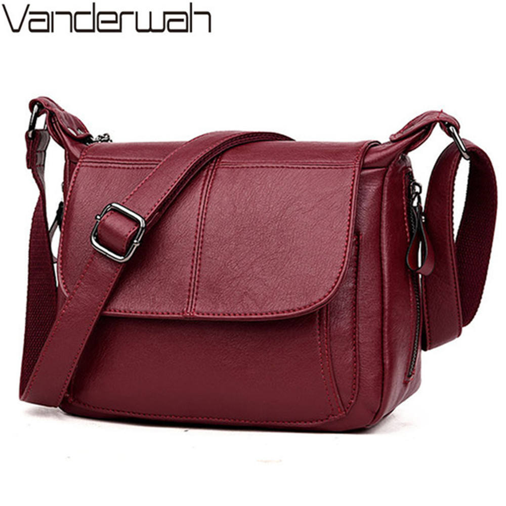 Women Messenger Crossbody Bags For Women Soft Leather Bags Handbags Women Famous Brands Ladies Shoulder Bag Bolsa Feminina Sac