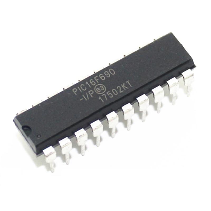 10PCS PIC16F690 PIC16F690-I/PMCU IC DIP-20 NEW