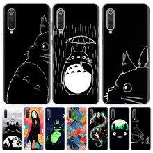 Studio Ghibli Totoro – coque noire pour Xiaomi, compatible Redmi Note 9 8 7 8A 7 7A 6A S2 K20 K30 8T 9S MI 9 8 CC9 F1 Pro