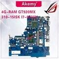 NM-A751 материнская плата для ноутбука lenovo 310-15ISK оригинальная материнская плата 4G-RAM I7-6500U GT920MX