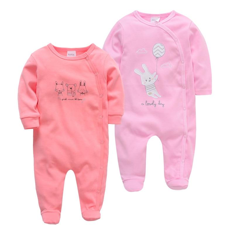 SAILEROAD 2ps/Set Baby Girl Cute Rabbit Fox Pajamas For Girls Baby Onesies Newborn Footed Pijama Infantil Infant Cotton Jumpsuit