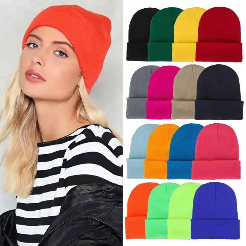 2021 New Winter Hats for Women Men Beanies Knitted Solid Cool Hat Girls Autumn Female Beanie Warm Bonnet Casual Cap Wholesale