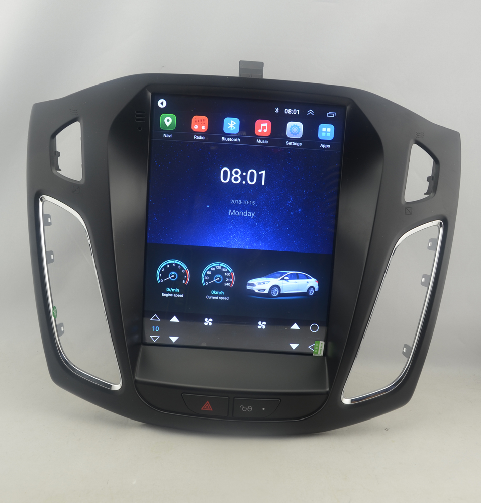 "10.4"" Tesla Style Vertical Screen Octa Core Android 10 Car Stereo GPS Navigation For Ford Focus C Max 2012-2018"