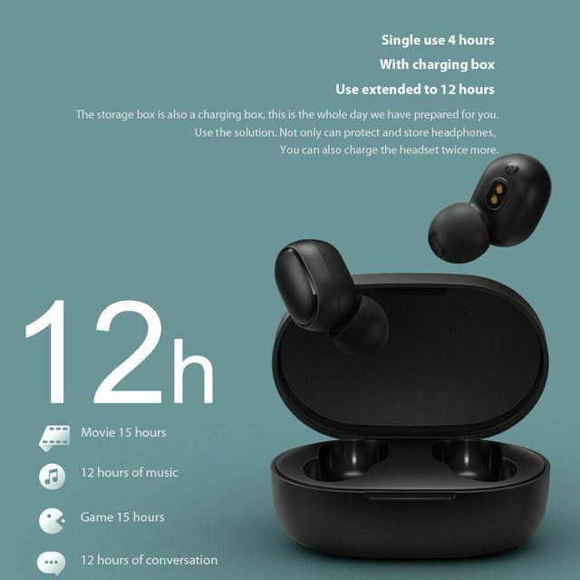 TWS Smart Phone Universal Bluetooth 5.0 Headset  Fast Charging Wireless Headphoe  Stereo Sports  Earbuds Headsets Microphone