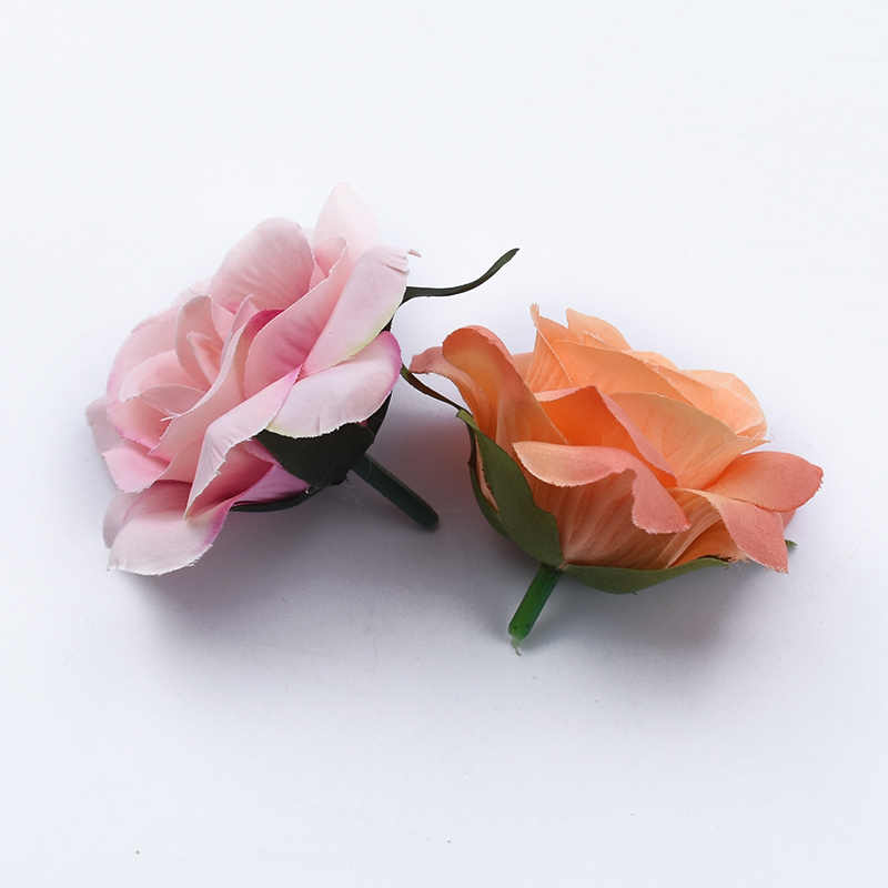 2/5/10 個 7 センチメートルシルクバラ頭結婚式装飾花壁 diy ギフトボックスクリスマス装飾家庭用スクラップブック花