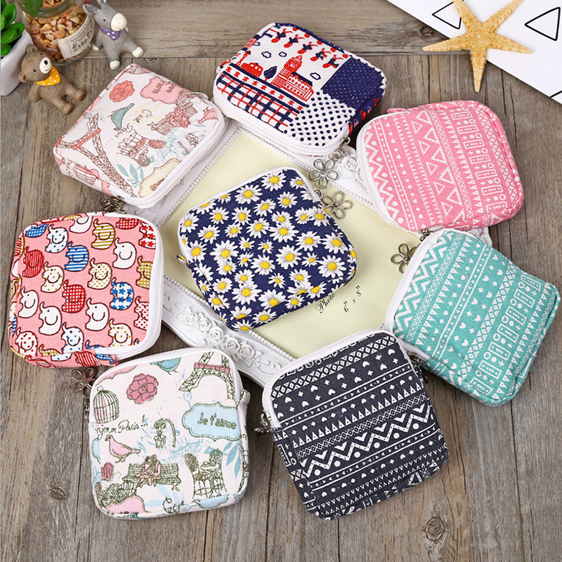Fashion Mini Purse Travel Cosmetic Bag Make Up Case Floral Women Beauty Organizer Makeup Bag Pouch Coin Earphone Storage Bags