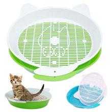 Коробка для кошачьего туалета с поддоном, коврик пластиковый для домашних животных, туалет для кошек и кроликов для кошек, отсев кошачьего туалета