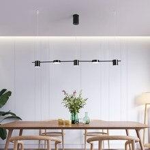 Nordic led brilho luz pingente moderno e minimalista sala de estar quarto sala jantar tira longa hanglamp casa luminárias